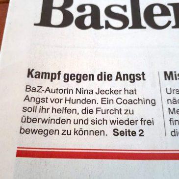 """Heute berichtet die Basler Zeitung BaZ über unsere Arbeit und titelt: """"Kampf gegen die Angst"""""""